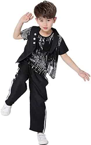 f1468479d50b Dreamowl Children Jazz Dance Costumes Hip Hop Party Ballroom Street  Dancewear Outfits