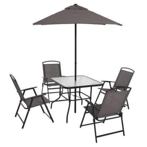 Mainstays Albany Lane 6-Piece Folding Seating Set (Gray)