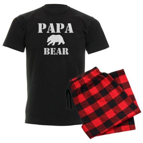 Papa Bear Flannel - CafePress Papa Mama Baby Bear Men's Dark Pajamas Unisex Novelty Cotton Pajama Set, Comfortable PJ Sleepwear