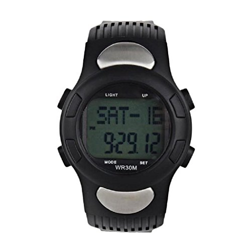Beaytyvan 2016Fitness 3D Pedometer Calories Counter Watch Pulse Heart Rate Monitor