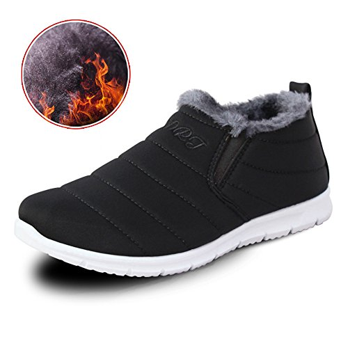 Men's Shoes Feifei High-Quality Materials Trendy Leisure Winter Keep Warm 3 Colors Black VyYvv