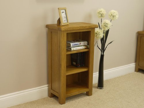 Tucan Rustic Oak Bookcase Display With Shelves Small Shelving