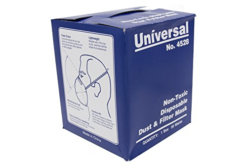 Universal 4528 Non-Toxic Disposable Dust & Filter Safety Masks (1000 Count Case) by Universal Sewing (Image #2)