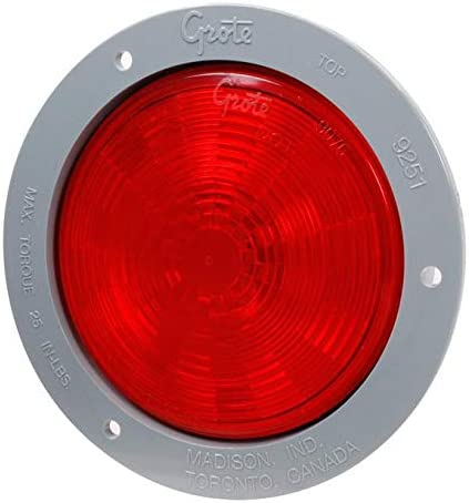 Gray Flange, Male Pin Grote 54472 SuperNova 4 NexGen LED Stop Tail Turn Light