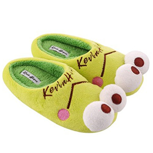 Frog Soft frog Flat Men's Bedroom YUTIANHOME Non Indoor Shoes Slip Closed Cotton Slippers Washable Toe Home Cartoon Warm qwqTvtY