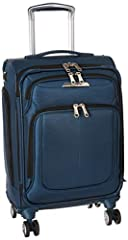 Zip through airports while charging your phone with this hard-working suitcase sized to carry onto most airlines. A spacious packing interior features a WetPak pocket to keep wet items separate and Smart Fix Buckles that conveniently stay out...