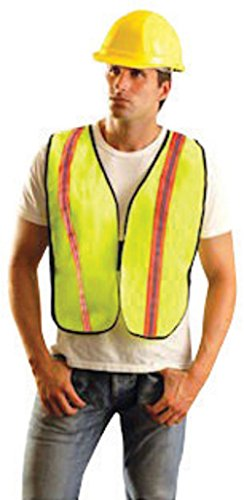 OccuNomix 4X Yellow OccuLux Non-ANSI Economy Vest With Front Hook, 1-3/8