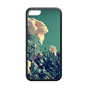 Personalized Creative Cell Phone Case For iPhone 6 plus (5.5),glam pink whtie flowers field