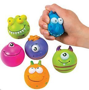 Monster Character Stress Balls(1 Dozen) by Oriental Trading Company