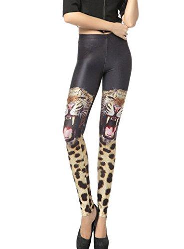 84cm De 58 Tour Extensible fille Sexy Mince Optique Imprimé Tigre Aivtalk Taille Multicolore Élastique Haute Skinny Pantalon Slim Legging Femme xFwqxTaBU