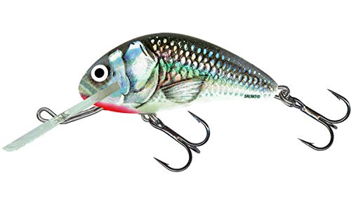 (Salmo Hornet Crank Floating Fishing Lures - Holo Grey Shiner)