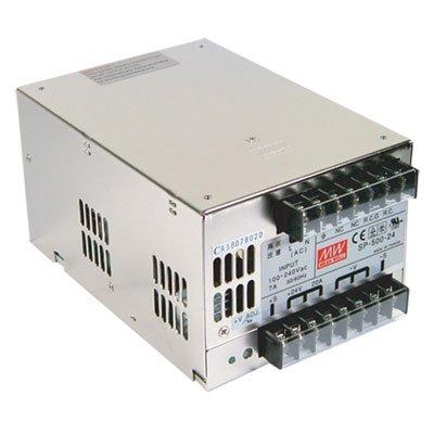 "Mean Well SP-500-27 Power Supply, Single Output, 27 Volt, 18 Amp, 486 Watt, 6.7"" L x 4.7"" W x 3.7"" H, Silver"