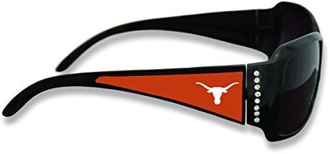 FTH Texas Longhorns Black Ladies Fashion Sunglasses with Arm Logo