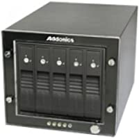 Addonics RAID Tower RT3S5HEU3 DAS Array - 5 x HDD Supported - 5 x Total Bays - USB 3.0 - RT3S5HEU3