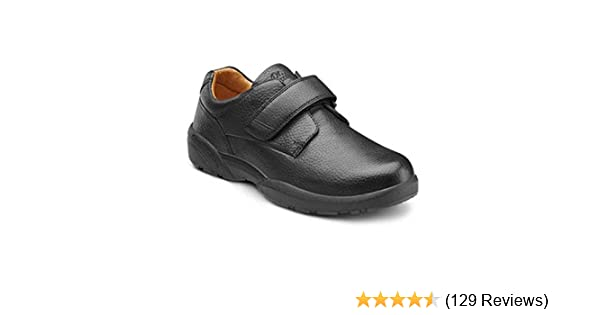 c8321cfb62aca Dr. Comfort Men's William-X Double Depth Black Diabetic Casual Shoes