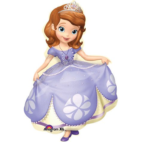 Anagram Sofia The First Supershape Foil Mylar Balloon (1ct) -