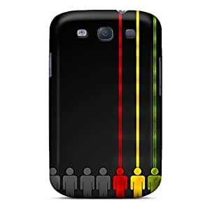 New Arrival Case Cover With MYXjvvM2171QLlKf Design For Galaxy S3- Rasta