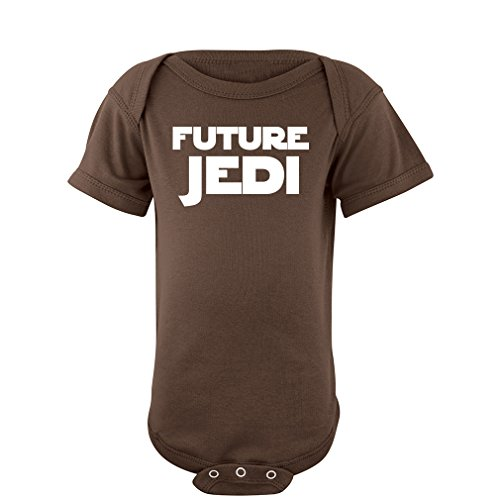 """Apericots Adorable """"Future Jedi"""" Soft and Comfy Cute Baby Short Sleeve Cotton Infant Bodysuit"""