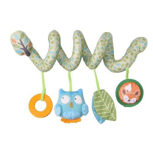 Zobo Spiral Car Seat Toy - Owl by Zobo