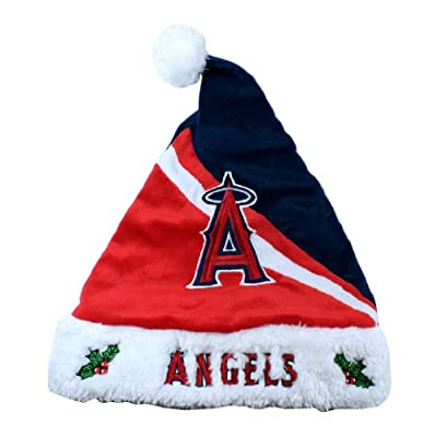 FOCO MLB Los Angeles Angels Swoop Logo Santa Hat, One Size, Team Color