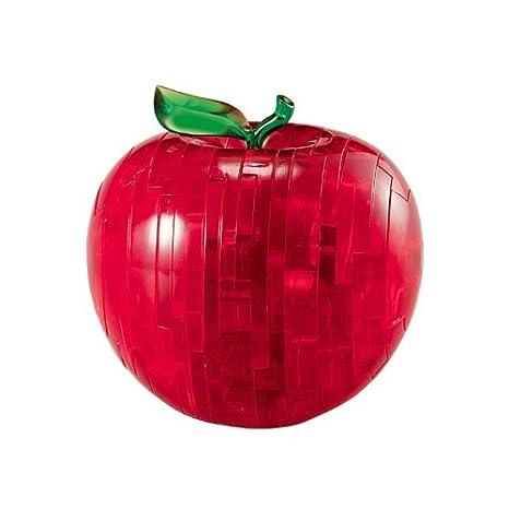 6190005 Pomme Puzzle 3d Crystal Rouge L34jq5RA