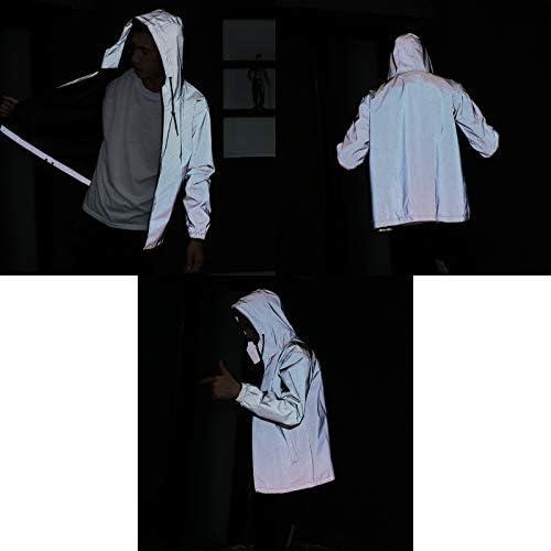2018 Men Women 3M Reflective Jacket Casual Hiphop