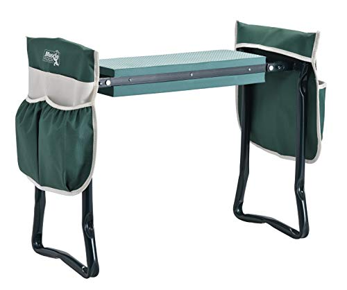 Folding Bench Stool with Kneeling Pad