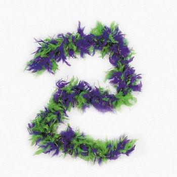 Mardi Gras Purple / Green / Gold Feather Boa 72