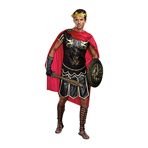 Dreamgirl Men's Julius Caesar Roman God Costume, Black, (Roman God Costumes)