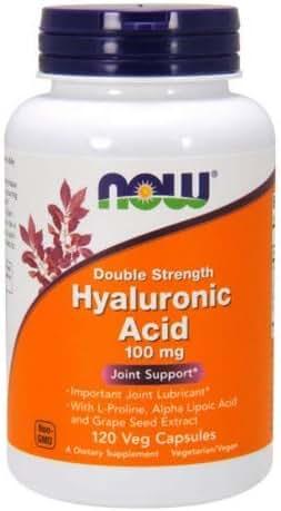 Now Foods - Hyaluronic Acid 100 mg - 120 Veg Capsule (Pack of 2)