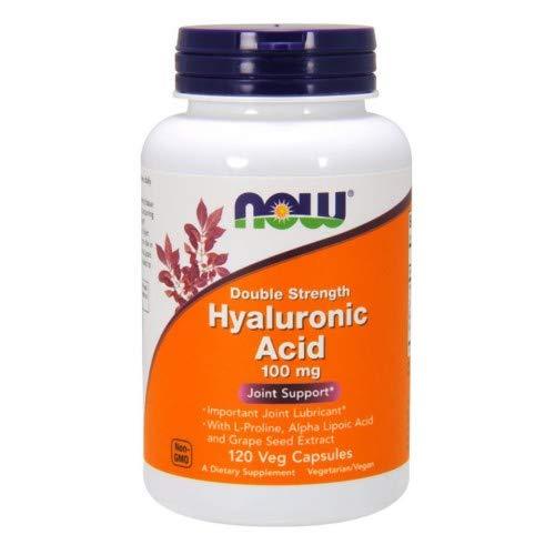 Now Foods - Hyaluronic Acid 100 mg - 120 Veg Capsule (Pack of 3)