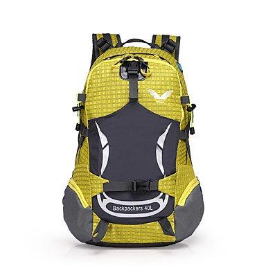 BEIBAO 40 L Tourenrucksäcke Rucksack Camping & Wandern Draußen Wasserdicht tragbar   Atmungsaktiv Gelb Grün   Grau Blau   Orange Nylon B07JQ5CZLC Wanderruckscke Ausgezeichnetes Handwerk