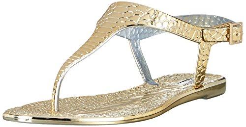 BUFFALO Msd-08 New Pvc - Sandalias de dedo Mujer Dorado (GOLD 01)