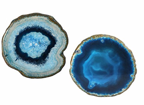 rockcloud Agate Slices Geode Stones,Coasters Cup Mat,Irregular Home Decoration Healing Crystals Collection 3-4.3