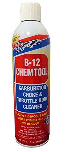 Berryman 0117C B-12 Chemtool Carburetor, Choke and Throttle Body Cleaner, VOC compliant in all 50 states, 16 oz.
