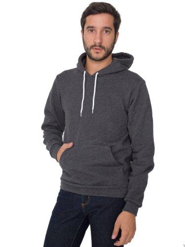 American Apparel Men Flex Fleece Drop Shoulder Pull Over Hoodie Size M Dark