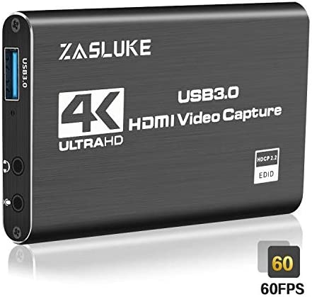 ZasLuke 4k HDMI Game Capture Card review