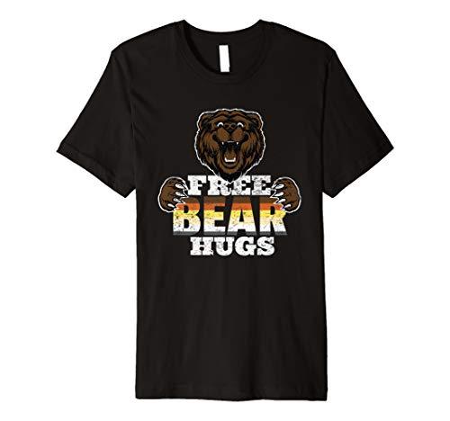 - Free Bear Hugs Funny Gay Pride LGBTQ Party Premium T-Shirt