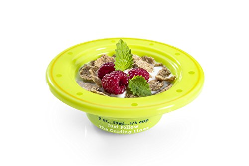 Precise Portions PPK-PK4BWL Show N Tell Nutrition Start-Right Graduated Bowls with Lids, Dietitian Developed Portion Control for Kids, No BPA, Microwave Dishwasher Safe, 6 oz. (Pack of 4)