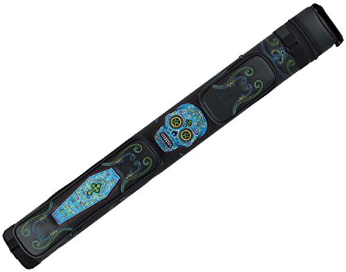 Action Calavera CALC22A Sugar Skull 2x2 Pool/Billiard Cue Case Black & Multi