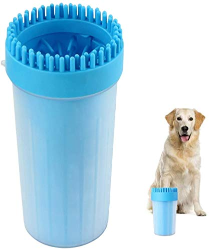 Dog Paw Cleaner, Portable Pet Paw Cleaning Brush, Pet Cleaning Brush Cup, Silicone Pet Foot Washer Massager Suitable All…