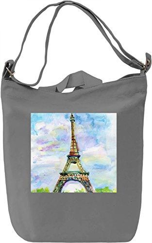 Paris Borsa Giornaliera Canvas Canvas Day Bag| 100% Premium Cotton Canvas| DTG Printing|