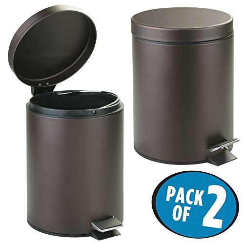 5 liter round small steel step trash can wastebasket garbage container bin for bathroom powder. Black Bedroom Furniture Sets. Home Design Ideas