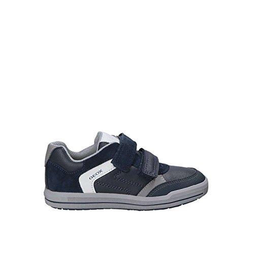 Geox J Arzach a, Zapatillas Para Niños Azul