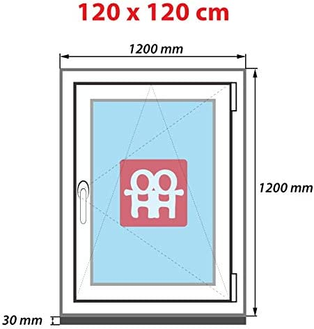 Drutex Kunststofffenster wei/ß Dreh Kipp Anschlag:DIN Links BxH:1200x1200 Glas:2-Fach
