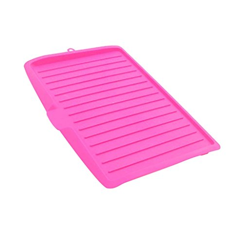 MagiDeal Kitchen Plastic Dish Drainer Tray Large Sink Drying