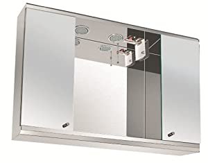 mirrored bathroom cabinet with shaver socket illuminated bathroom mirror cabinet with shaver socket 23384