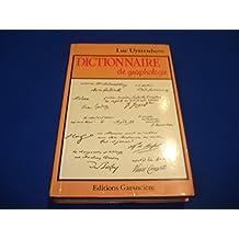 Dictionnaire de Graphologie