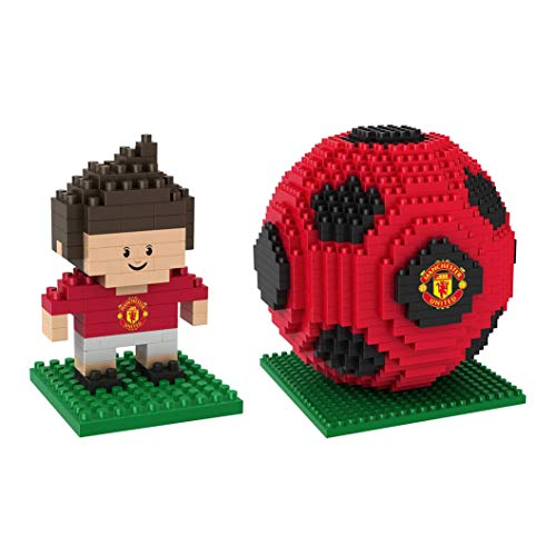 Manchester United - BRXLZ 3D Player & Soccer Ball Construction Kit Combo Pack