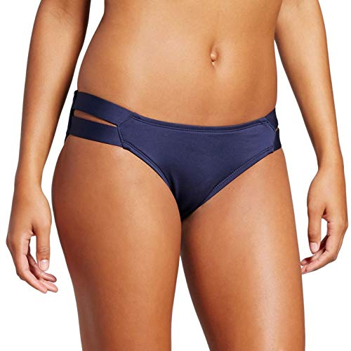 Mossimo Bikini Swimsuit - Mossimo Women's Strappy Hipster Bikini Bottom (Large, Navy)